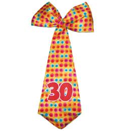 30-as Színes Szülinapi Parti Nyakkendő