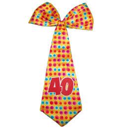 40-es Színes Szülinapi Parti Nyakkendő