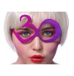 Lila 30-as Szülinapi Parti Szemüveg