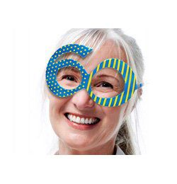 Kék 60-as Szülinapi Szemüveg