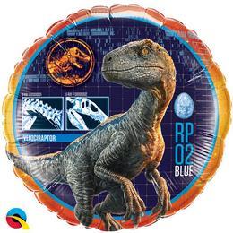 Jurassic World - Velociraptor Dinoszaurusz Héliumos Fólia Lufi, 46 cm