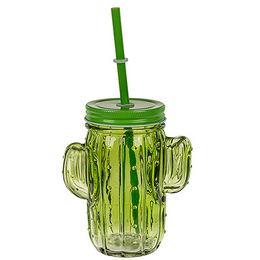 Kaktusz Befőttes Üveg Koktél Pohár