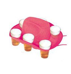 Pohártartós Rózsaszín Parti Cowboy Kalap