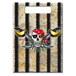 Kalóz - Red Pirate - Parti Ajándékzacskó - 8 db-os