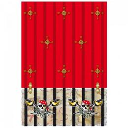 Kalóz - Red Pirate - Parti Asztalterítő - 130 cm x 180 cm