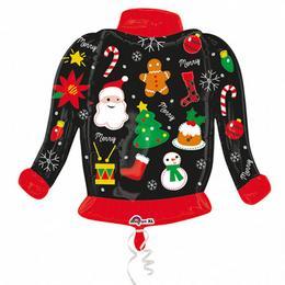 Karácsony Mintás Pulóver - Christmas Sweater Super Shape Fólia Lufi