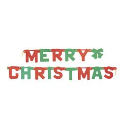 Merry Christmas Feliratos Karácsonyi Füzér Haranggal - 180 cm