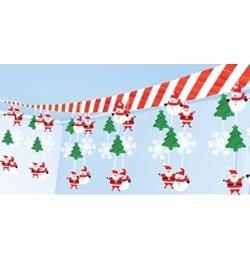 Télapós Karácsonyi Mennyezet Dekoráció - 30 cm x 3,6 m