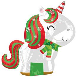 Unicorn Karácsonyi - Christmas Junior Shape Fólia Luf