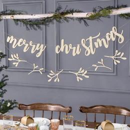 Karácsonyi Fa Merry Christmas Feliratú Dekorációs Banner