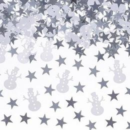 Karácsonyi Hóemberek és Csillagok Konfetti - 7 gram