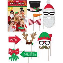 Karácsonyi Kellékek Pálcán Fotózáshoz - 13 db-os