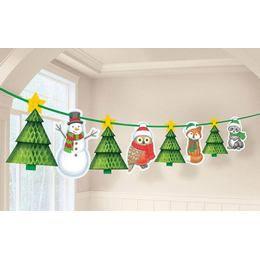 Karácsonyi Mintás Függő Dekoráció - 365 cm