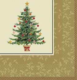 Karácsonyi Arany Színű Parti Szalvéta