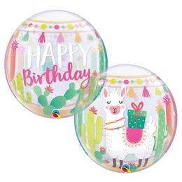 22 inch-es Llama - Láma Birthday Szülinapi Bubble Lufi