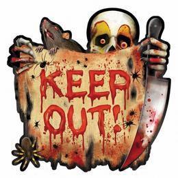 Creepy Carnival - Keep Out! - Halloween Karton Dekoráció