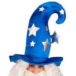 Kék, Ezüst Csillagos Varázsló Kalap