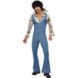 Kék Hippi Táncos Férfi Jelmez - XL-es