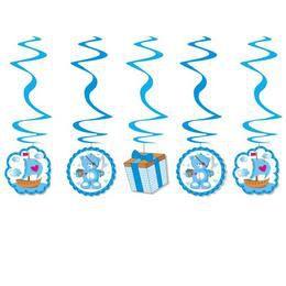 Kék Macis Spirális Függő Dekoráció