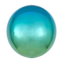 Kék Zöld Gömb Héliumos, 40 cm