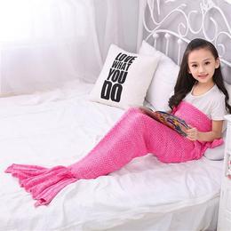 Kényelmes Meleg Pink Sellő Takaró - 140 cm x 70 cm