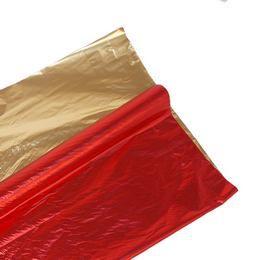 Kétszínű (Piros - Arany) Metál Fényes Fólia Csomagoló - 1 m x 20 m