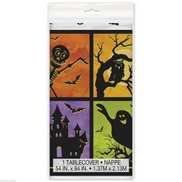 Kísértetház Parti Asztalterítő  Halloweenre - 137 cm x 213 cm