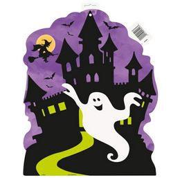 Halloween Dekorációs Karton - Kísértetház