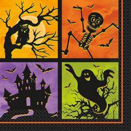 Kísértetház Parti Szalvéta Halloweenre - 33 cm x 33 cm, 20 db-os