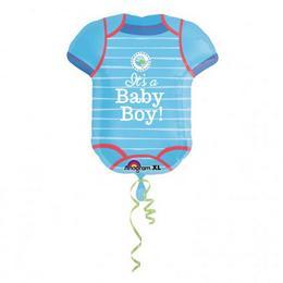Love Boy Kisfiús - Kék Body Super Shape Fólia Lufi Babaszületésre