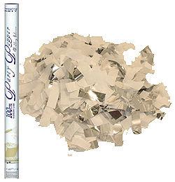100 cm-es, Fehér és Ezüst Téglalap Konfettiket Kilövő Esküvői Konfetti Ágyú
