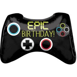 Epic Party Game Controller Szülinapi Super Shape Fólia Lufi