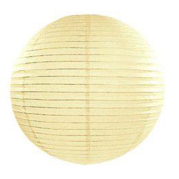 Krémszínű Parti Gömb Lampion - 35 cm