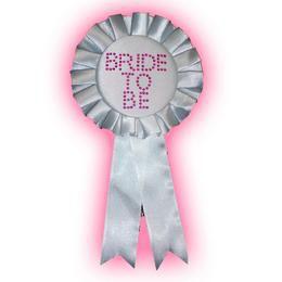 Bride To Be Fehér Strasszos Kitűző Lánybúcsúra