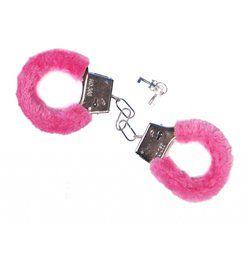 Rózsaszín Plüss Bilincs, 2 db kulccsal