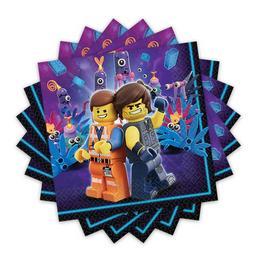 Lego Kaland - Lego Movie 2 Parti Szalvéta, 33 cm x 33 cm, 16 db-os