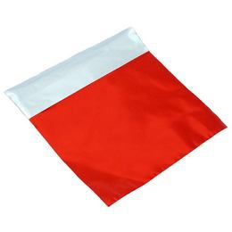 Lezárható Metál Fényes Piros Ajándéktasak - 30 cm x 30 cm, 1 db