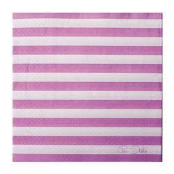Lila-Fehér Csíkos Papír Parti Szalvéta - 20 db-os, 33 cm x 33 cm