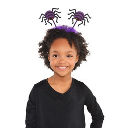 Lila Fekete Pókos Fejdísz Halloween-ra