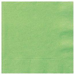 Lime Green Papír Parti Szalvéta - 33 cm x 33 cm, 20 db-os