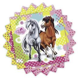 Charming Horses - Lovas Parti Szalvéta - 33 cm x 33 cm, 20 db-os