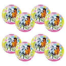 Charming Horses - Lovas Parti Tányér - 23 cm, 8 db-os
