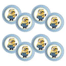 Lovely Minions Parti Tányér - 20 cm, 8 db-os