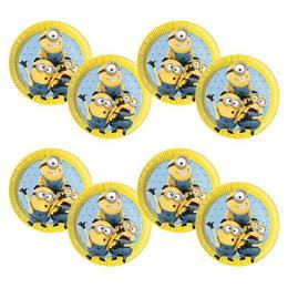 Lovely Minions Parti Tányér, 23 cm, 8 db