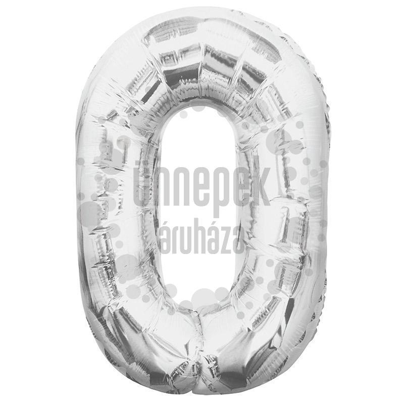 34 inch-es 0 Ezüst - Silver Számos Super Shape Fólia Lufi
