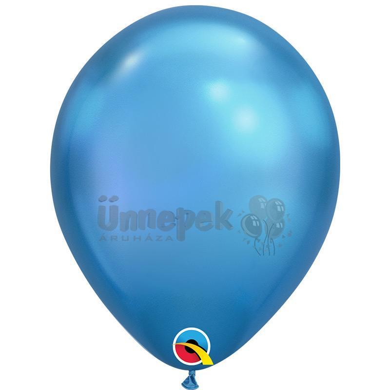 11 inch-es Chrome Blue - Kék Kerek Lufi (100 db/csomag)