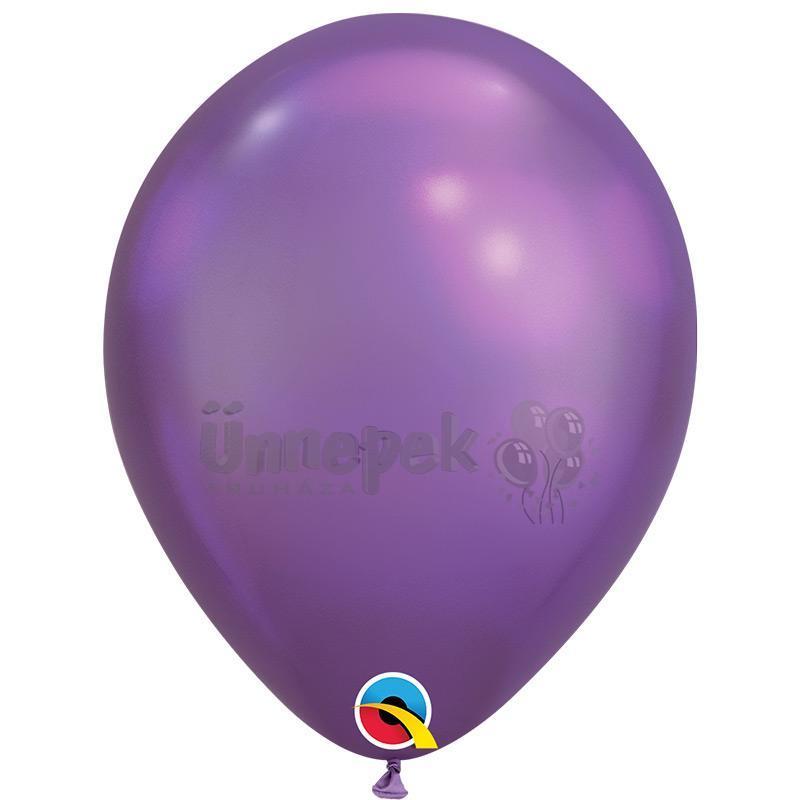 11 inch-es Chrome Purple - Lila Kerek Lufi (100 db/csomag)