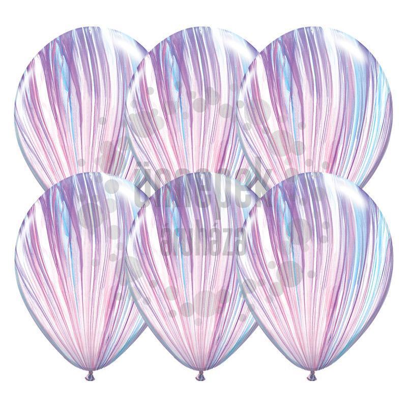 11 inch-es Fashion SuperAgate Kerek Latex Lufi (25 db/csomag)