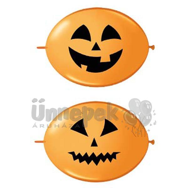 12 inch-es Jack Faces Orange - Tök Fejes Quick Link (Fashion) Lufi Halloween-re (50 d