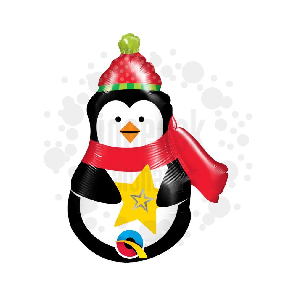 14 inch-es Precious Penguin - Pingvin Fólia Lufi Karácsonyra